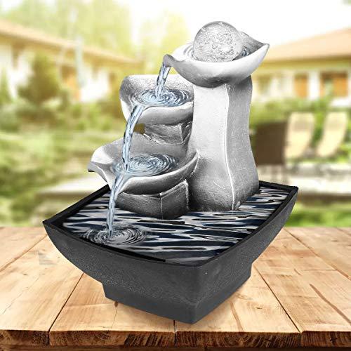 Steingarten Freizeit Indoor Brunnen Wasserfall Feng Shui Desktop Sound Dekoration Handwerk Einrichtungsgegenstände, Zubehör,