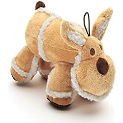 "Pistacho mascota perro juguete–marrón de forro polar y alce de peluche con sonido (. 9""/23cm"