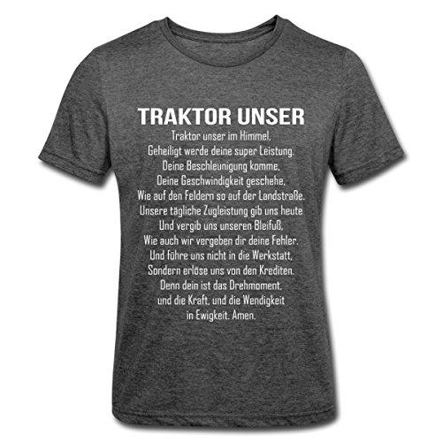 Unser Witziger Spruch Bauer Männer Polycotton T-Shirt, XL, Dunkelgrau meliert (Männer Bauer Shirt)