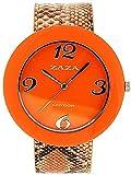 ZAZA London LLB855/5 - Reloj para mujeres, correa de plástico color naranja
