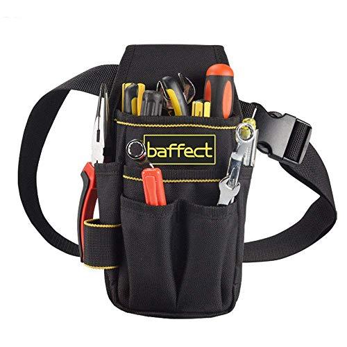 Werkzeugtasche mit Gürtel, Baffect Mini Werkzeug Tasche aus Leinwand Multi-Purpose Werkzeughalter Organizer Heavy-Duty Werkzeug Organizer