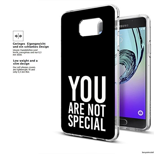 Motivo Serie 1 Custodia Rigida Iphone - Gatto corto, Samsung Galaxy A3 2017 You are non speciale nero