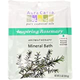 Aura Cacia Aromatherapy Mineral Bath Inspiring Rosemary 2.5 ounce packet (Pack of 3)