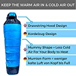 FIT NATION Viking Trek 350x Sleeping Bag – Warm 350g Filling & Breathable, Ideal Camping Gear for Music Festivals, DoE…