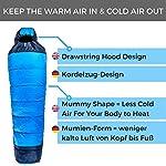 FIT NATION Viking Trek 350x Sleeping Bag – Warm 350g Filling & Breathable, Ideal Camping Gear for Music Festivals, DoE…