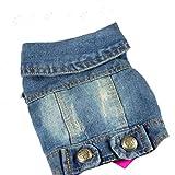 MUXIAND Sommer Hündchen Weste Jeansjacke Kostüm Top Fashion Jeans Kleidung für kleine große Hunde Blau
