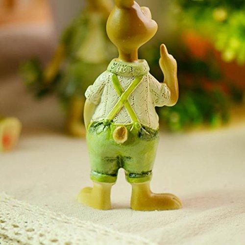 MagiDeal 2pz Mini Casa Delle Bambole Bonsai Coniglio Fata Mestiere Giardino Arredamento Decorazione