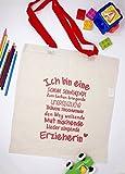 Geschenk Erzieherin Baumwollbeutel für Erzieherinnen mit roten Henkeln