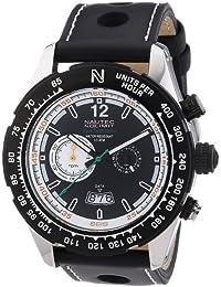 Nautec No Limit Herren-Armbanduhr XL Indianapolis Chronograph Quarz Leder IP QZ/LTIPBKBK