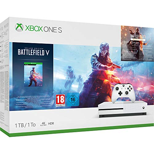 Microsoft Xbox One S 1TB - Battlefield V Bundle (inkl. Battlefield V: Deluxe Edition, Battlefield 1: Revolution und Battlefield 1943)