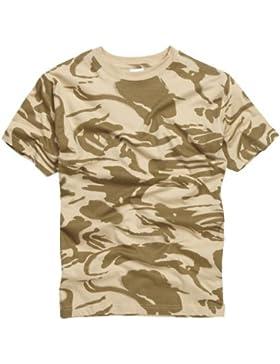 100% Algodón Estilo Militar Camiseta - Británico Camuflaje Desierto