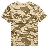 Camiseta 100% Algodón estilo militar. Camuflaje Desierto Britanico. Talla XL