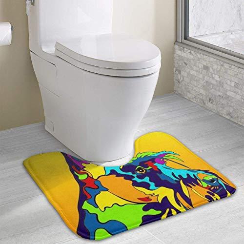 Hoklcvd Mehrfarbiger Scottish Terrier Hund Rutschfeste Kontur Badematte für Toilette, saugfähiges Wasser Perfekt für Badezimmer. Kaufen Sie online Badematten zu den besten Preisen