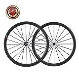 IMUST Carbone Roue de Vélo Route Clincher 38mm Profondeur Shimano 10/11 Vitesses 1450g
