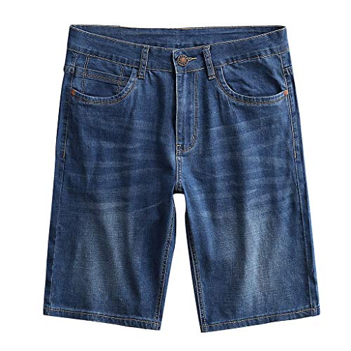 Plus Size Stretch Twill-capri (Prime day shorts,kurze Herren Hose Herren Sommer Jeans Freizeit Shorts Skateboard Straight Cargo Shorts Business Jeans Plus Size S-9XL von Evansamp(Blau,36))