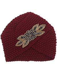 EOZY Damen Ski Mütze Feinstrick Mütze American Hut Haarband