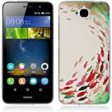 Funda Huawei Enjoy 5, Funda Huawei Y6 Pro - Fubaoda - 3D Realzar, Estético Patrón, Gel de Silicona TPU, Fina, Flexible, Resistente a los arañazos en su parte trasera, Amortigua los golpes, funda protectora anti-golpes para Huawei Enjoy 5 / Y6 Pro