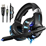 Casque Gaming PS4 Casque PC Switch Xbox One Ordinateur Mac Tablette avec Micro...