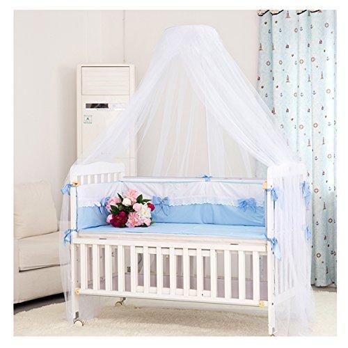 LEORX Moskitonetz - Kleinkind Bett Kinderbett Baldachin Moskitonetz – eingerichtet (weiß) (Raum Kleinkind Bett)