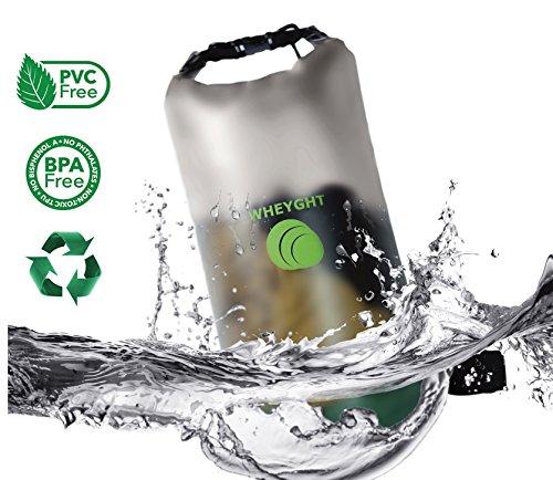 THE ADVENTURE-SEEKER von WHEYGHT® - transparente, wasserdichte Tasche - drybag mit 10l Volumen - two strap version - verwendbar als Beutel oder Rucksack durch 2 Schultergurte