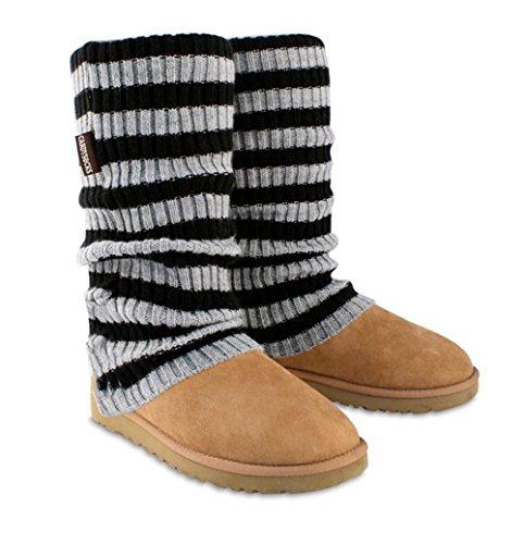 Ugg-stiefel-socken (kaufen 1get 1gratis. CARDI sockstm über Socken für UGG Boots. Covers & schützt Müde Schaffell Stiefel. Tolles Winter Warmer & Mode Zubehör, und Ändern Sie das Aussehen Ihrer UGG Boots., - Schwarz / Dunkelgrau gestreift - Größe: One Size)