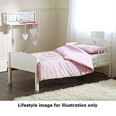 Saplings White Heart Junior Bed (Pine) with Superior Spring Mattress - inexpensive UK light store.