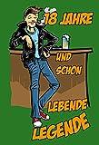 ComCard 18 Jahre und Schon Lebende Legende - Schild aus Blech, spruchschild, Lustig, Comic, Metal Sign,
