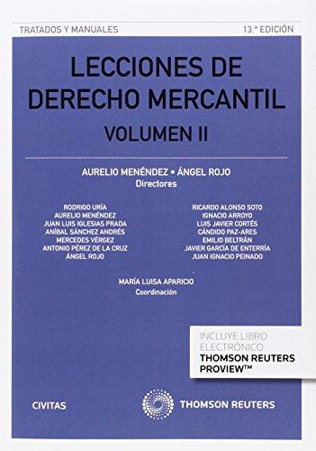Lecciones De Derecho Mercantil Volumen Ii (Tratados y Manuales de Derecho)