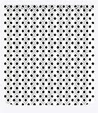 LB Punkt Muster Entwurf Duschvorhang Wohnkultur Schwarze Flecken,weißer Hintergrund 150W x180H cm,wasserabweisend,Polyester Stoff,Badezimmervorhang mit HakenRing