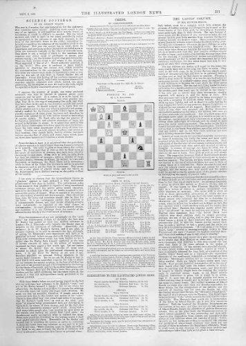 3 Schach-Probleme Und Spiel-Antike Drucken 1892