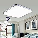 Hengda 36W Modern LED Deckenleuchte Deckenlampe Wohnzimmer bad Küche Panel Leuchte Dimmbar 2700-6500K