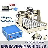 XINTONGRULE 4 Achsen CNC-Fräser, 3040 Graviermaschine, Fräsmaschine VFD USB-Fräser, 3D-Fräsen, Schleifwerkzeug, Fräsmaschine