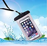 CHRONEX Waterproof Mobile Pouch for upto 6.0-inch Diagonal Phones (Black)