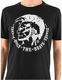 Diesel - T-Achel-R T-shirt hommes NOIR ET BLANC T TRIVI Mohawk