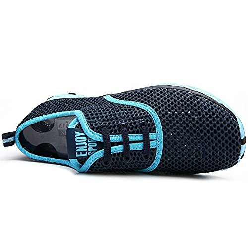 Scarpe d'acqua Unisex, Mesh Traspirante Impermeabile Slip-On Rapida Asciugatura Scarpe Da Mare Uomo Donna cielo blu