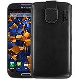 mumbi ECHT Ledertasche Samsung Galaxy S4 Leder Tasche Etui (Lasche mit Rückzugfunktion)