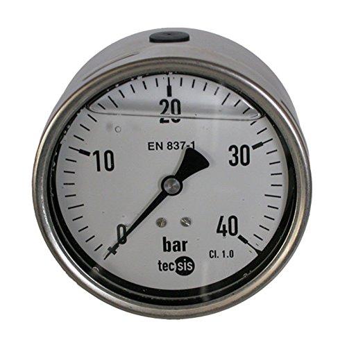 Hydraulik Manometer Glycerin NG Ø 100 Edelstahl bar 1/2