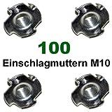 100 Einschlagmuttern Verzinkt M 10 für Klettergriffe bzw. Kletterwand / Boulderwand