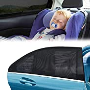 Freewalk Car Window Shades for Baby Block UV Rays, Protect Your Babies, Kids and Pet from UV, AN Car Rear Side