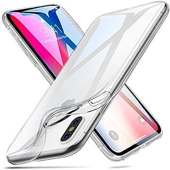 ESR Coque iPhone X Silicone Transparente Gel TPU Souple, Bumper Housse Etui de Protection [Compatible avec le Rechargement sans Fil] pour Apple iPhone X 5,8'' – Clair