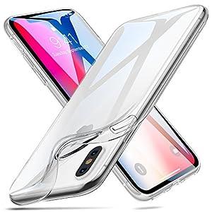 ESR Cover iPhone XS, Cover iPhone X, Custodia Gel Trasparente Morbida Silicone Sottile TPU [Ultra Leggera e Chiaro] per Apple iPhone XS/X da 5.8 Pollici. 9 spesavip