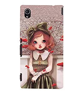 99Sublimation Baby Doll with Lip pout 3D Hard Polycarbonate Back Case Cover for Sony Xperia M4 Aqua, Sony Xperia M4 Aqua Dual