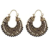 Ganapathy Gems Black Metal Hoop Earring ...