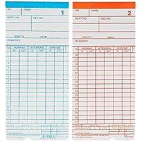 SGerste - 90 tarjetas mensuales de reloj para asalariado con temporizador de grabadora