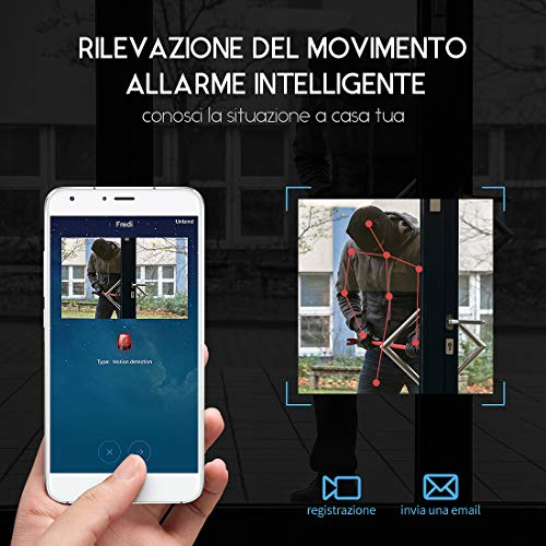 FREDI HD 1080P wireless ip telecamera spy cam mini telecamera videocamera wifi nascosta spia fotografica con movimento investigativo di sorveglianza sicurezza - 3