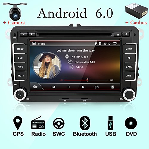 Navigationsgerät / DVD-Player mit Kamera + CANBUS 17,8cm 2DIN Android 6,0Quad Core, Touchscreen, unterstützt Mirrorlink/ OBD2/ Subwoofer/ RDS/ - Dvd-player Boss