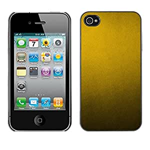 Omega Covers - Snap on Hard Back Case Cover Shell FOR Apple iPhone 4 / 4S - Metal Pattern Rustic Yellow Metallic