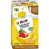 HiPP Quetschbeutel Apfel-Banane & Babykeks, nach dem 4.Monat, DE-ÖKO-037, Art.Nr. 8579-01 - VE 4x90g