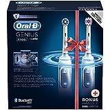 Oral-B Genius8900 - CrossAction cepillo de dientes eléctrico recargable con tecnología de Braun, 2 mangos, 5 modos, 3 cabezales de recambio y 1 estuche de viaje premium, Edición especial