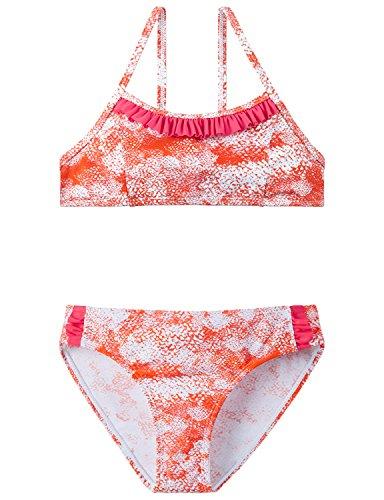 Schiesser Mädchen Badebekleidungsset Bustier-Bikini, Gelb (Orange 602), 164